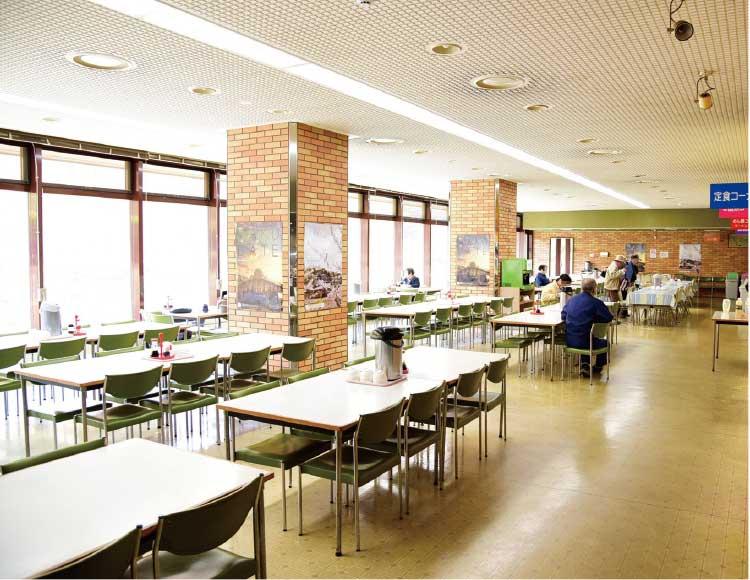 函館市役所庁舎内の食堂