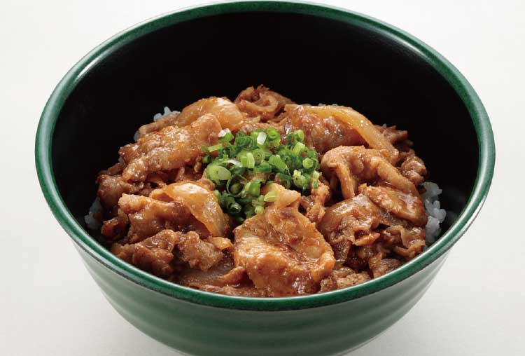 函館水産支部食堂の豚みそ焼肉丼・中サイズ