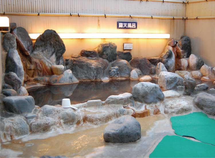 函館健康センター湯都里のお風呂