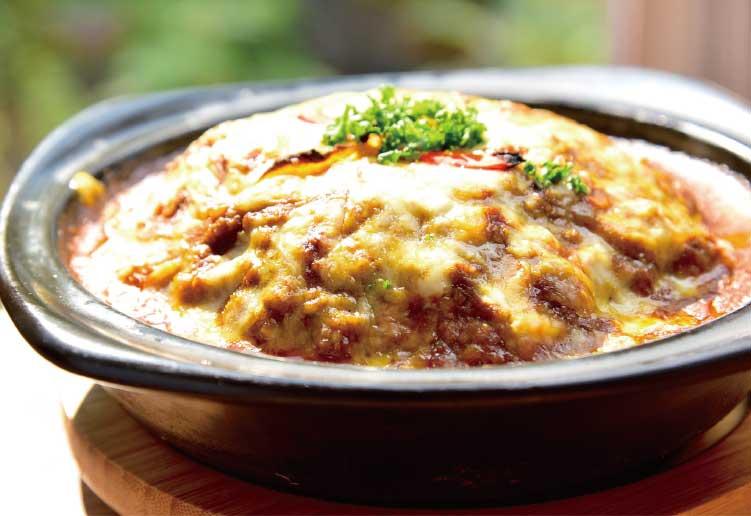 ラムズイヤーのチーズ焼きカレー