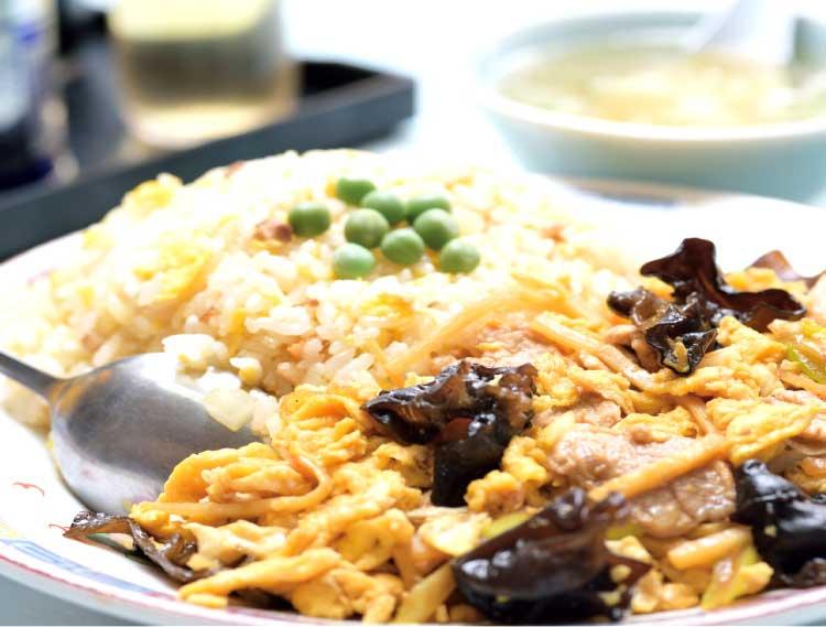 中和廊のムースールー炒飯