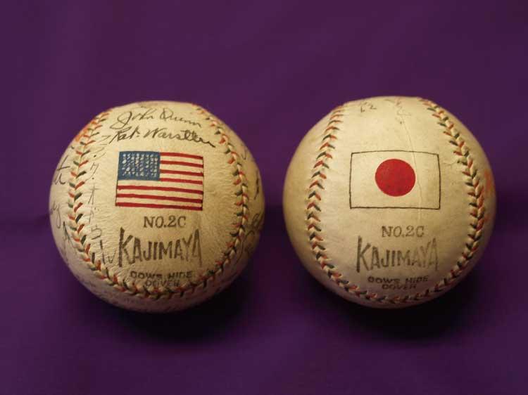 函館に来たメジャーリガーのサインボール