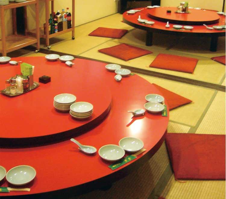 中国料理東春店内