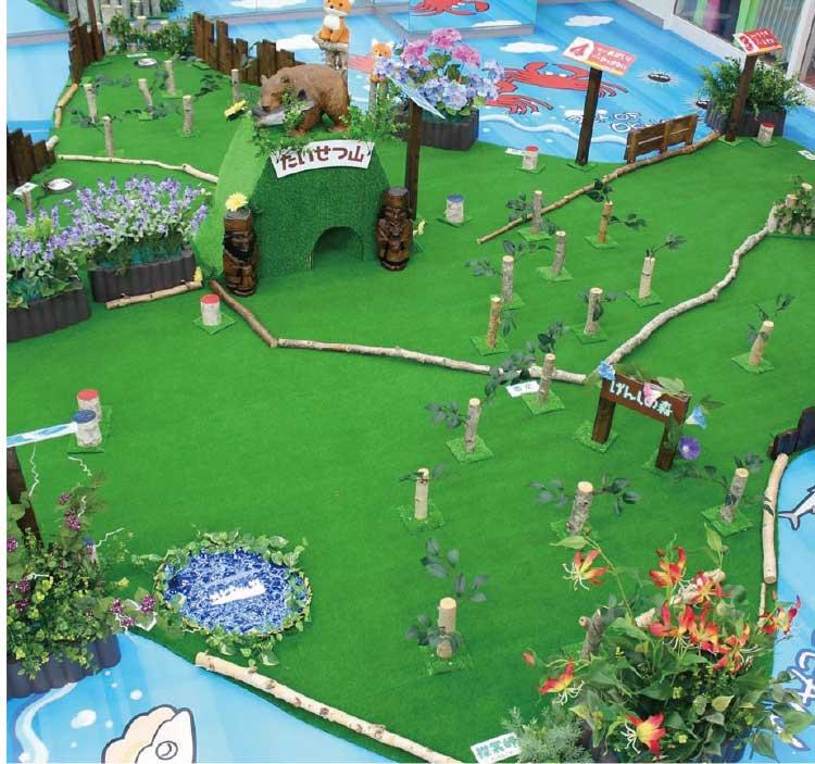 ホテルリソル函館にある北海道の模型地図