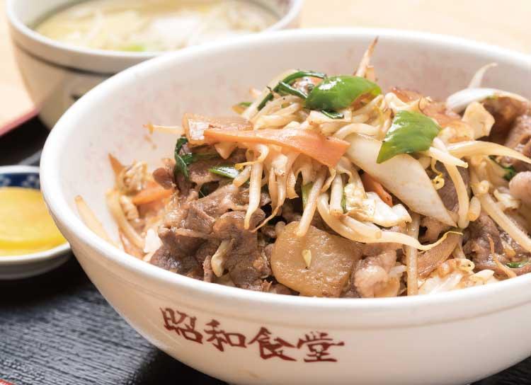 昭和食堂のジンギスカン丼