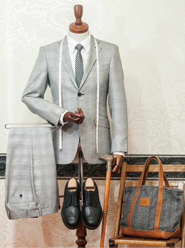 函館の紳士服FLASH BACKのオーダースーツセット