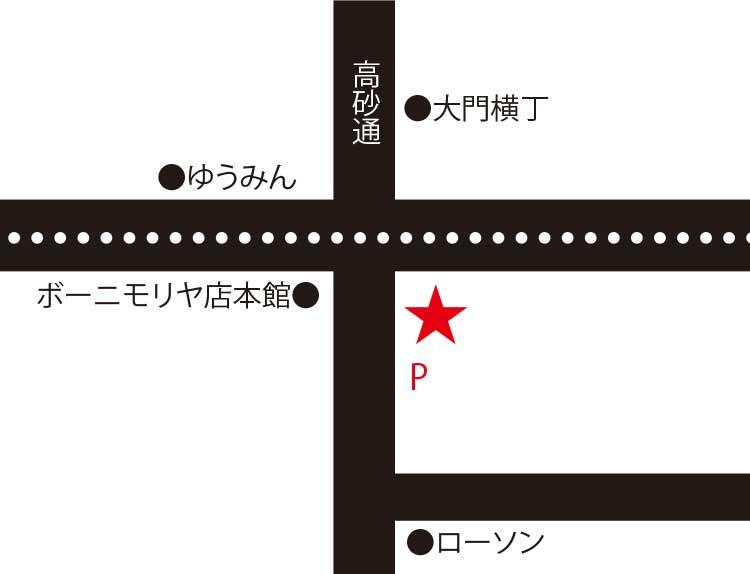 函館麺屋ゆうみん四代目周辺地図