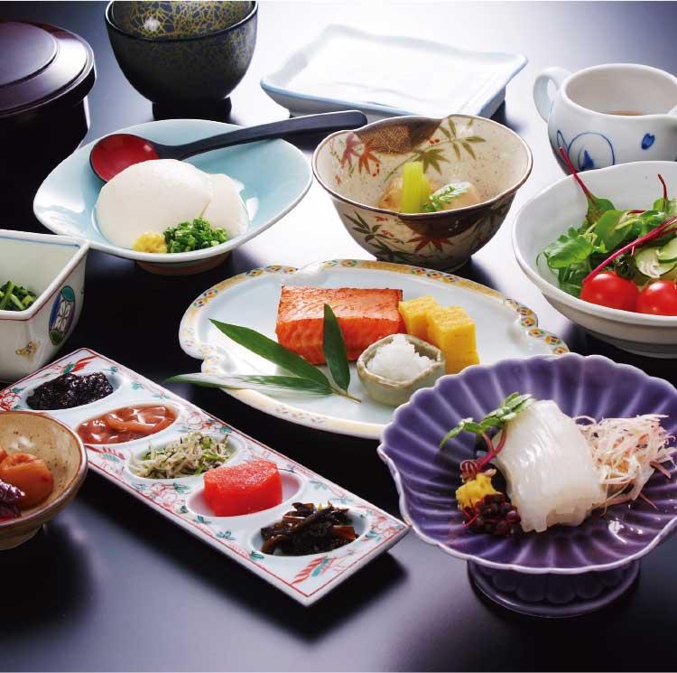竹葉新葉亭の冬季限定特別プランの朝食
