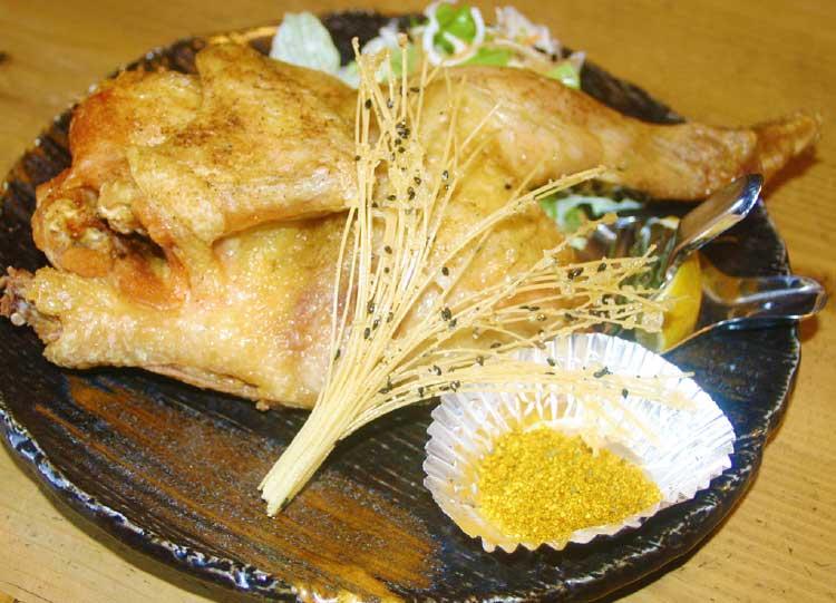 鶏料理専門店鶏旬の若鶏の半身揚げ