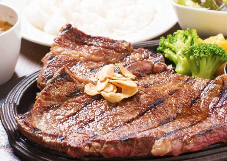 情熱ステーキの完熟牛クラシタステーキ