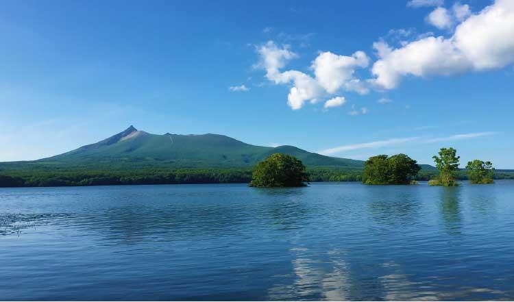 大沼から見える駒ケ岳