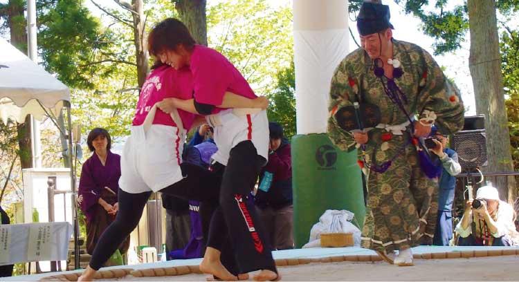 福島町の女相撲大会