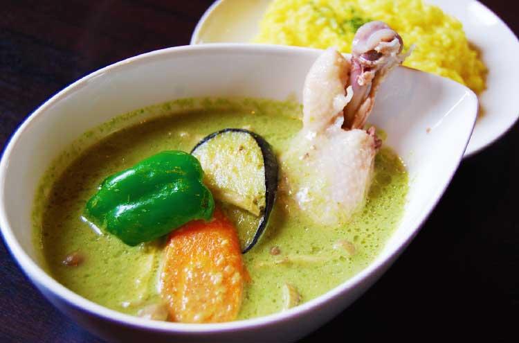 タイリゾートキッチン・サラドのグリーンカレー
