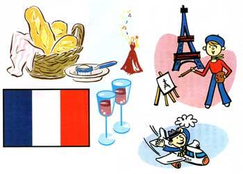フランスのいろいろイラスト