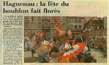 日本の民俗芸能グループを紹介したフランスの新聞