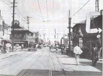 昭和初期頃の大門の街並み