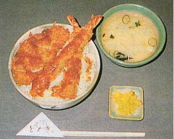 とんきの海老、ヒレとん丼