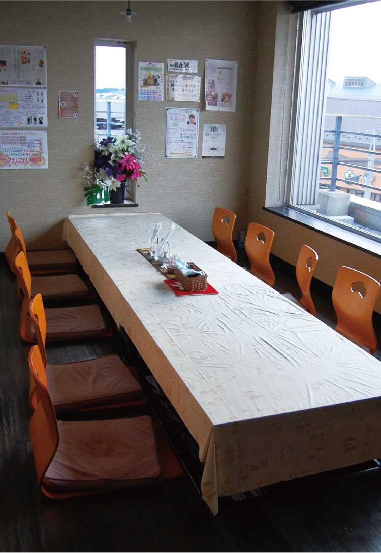 カフェ&レストランAOKI店内