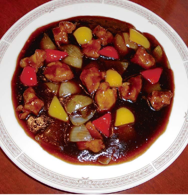 中華料理李太白の黒酢の酢豚