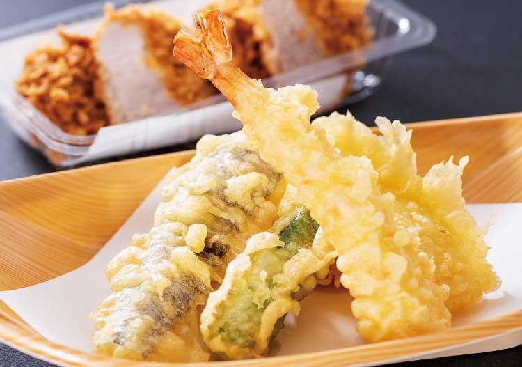 とんかつ・天ぷら華な美の天ぷら盛合わせ