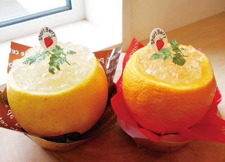 Short Berryのまるごとオレンジゼリー