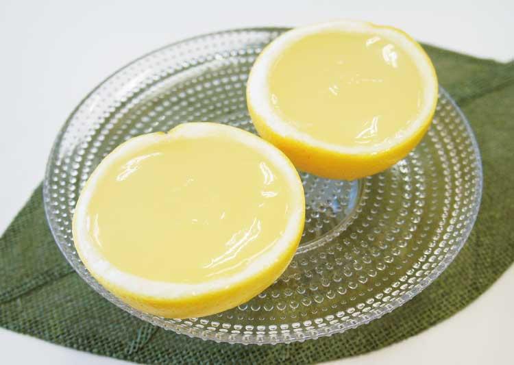函館洋菓子スナッフルスの半割グレープフルーツゼリー