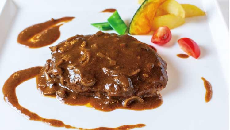 熊猫社中・洋食キッチンSatoの黒毛和牛を使用した贅沢ハンバーグ~4種茸の特性デミグラス