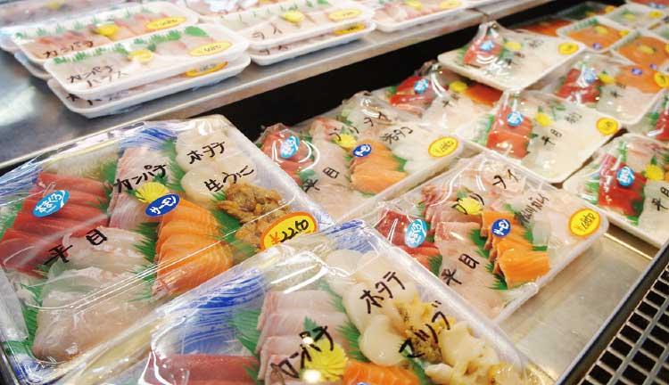坂井鮮魚店の盛り合わせ