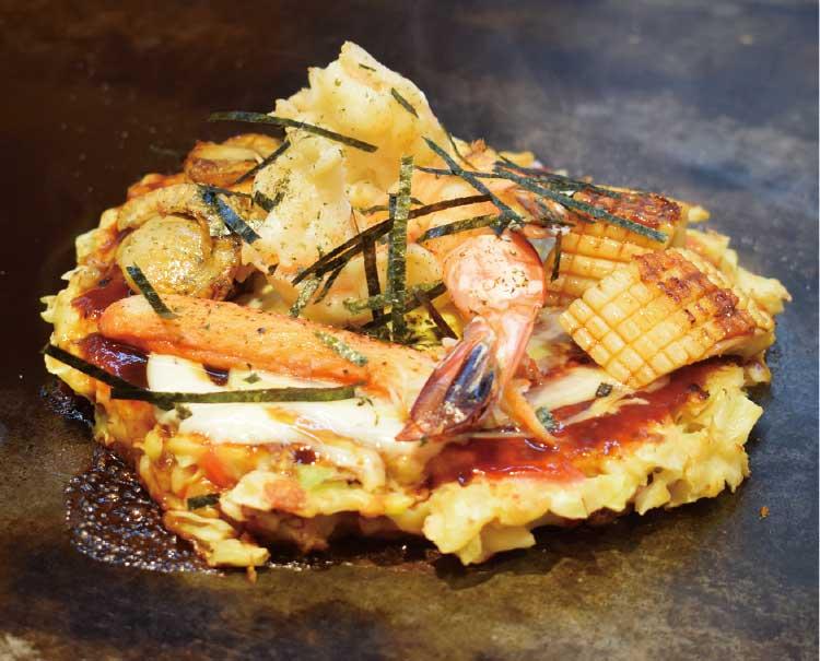 お好み焼・赤坂の海鮮お好み焼
