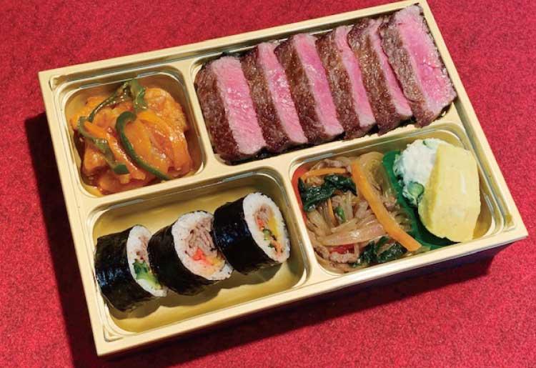 やきにくれすとらんBari・bari沙蘭の韓流ステーキ弁当