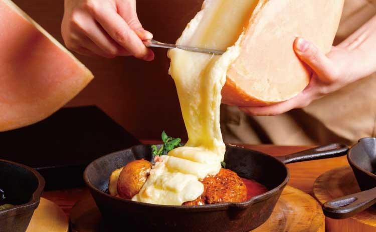 チーズチーズカフェ函館店のラクレットチーズのグリルプレート
