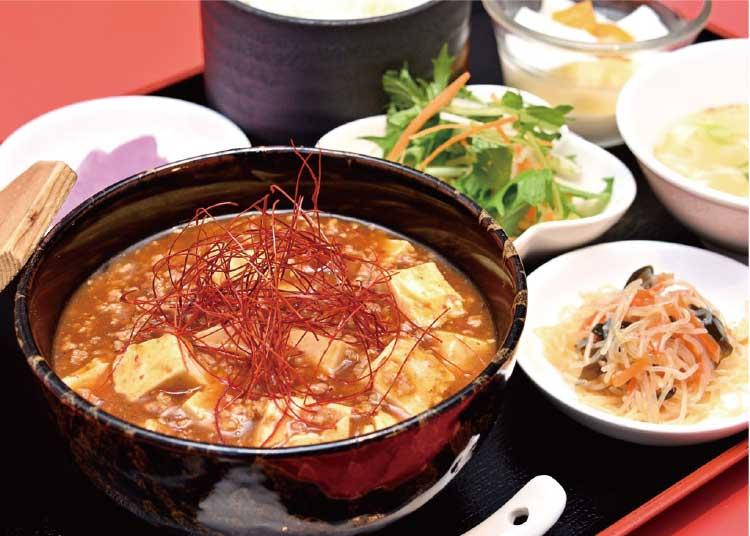 中国料理・香港の麻婆豆腐ランチ