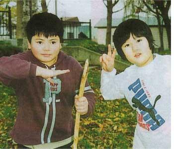 高橋利彰君(左)と海老詢君
