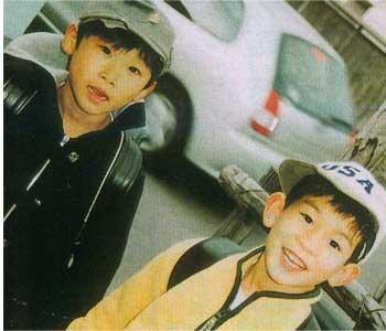 野村翔太君(左)と加川裕貴君