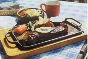 ランバーハウスのステーキ
