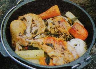 チキンと野菜の香り焼き