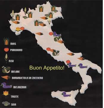 イタリアのイラスト地図