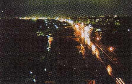 湯の川プリンスホテル渚亭の最上階着室から見える夜景