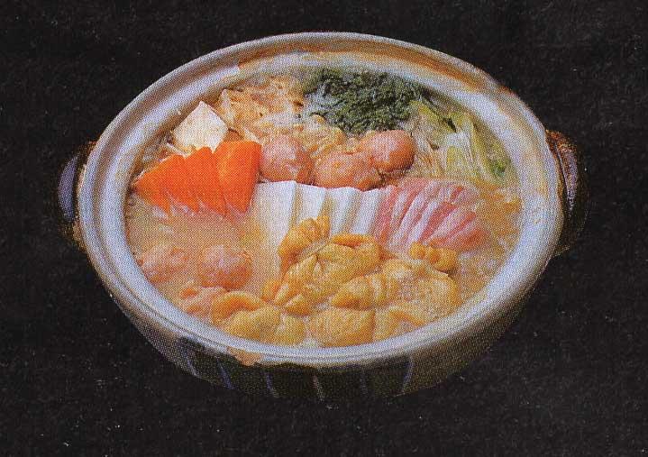 居酒屋マリンテーブルの味噌ちゃんこ鍋