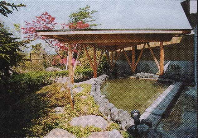 天然温泉ゆうひの館の露天風呂