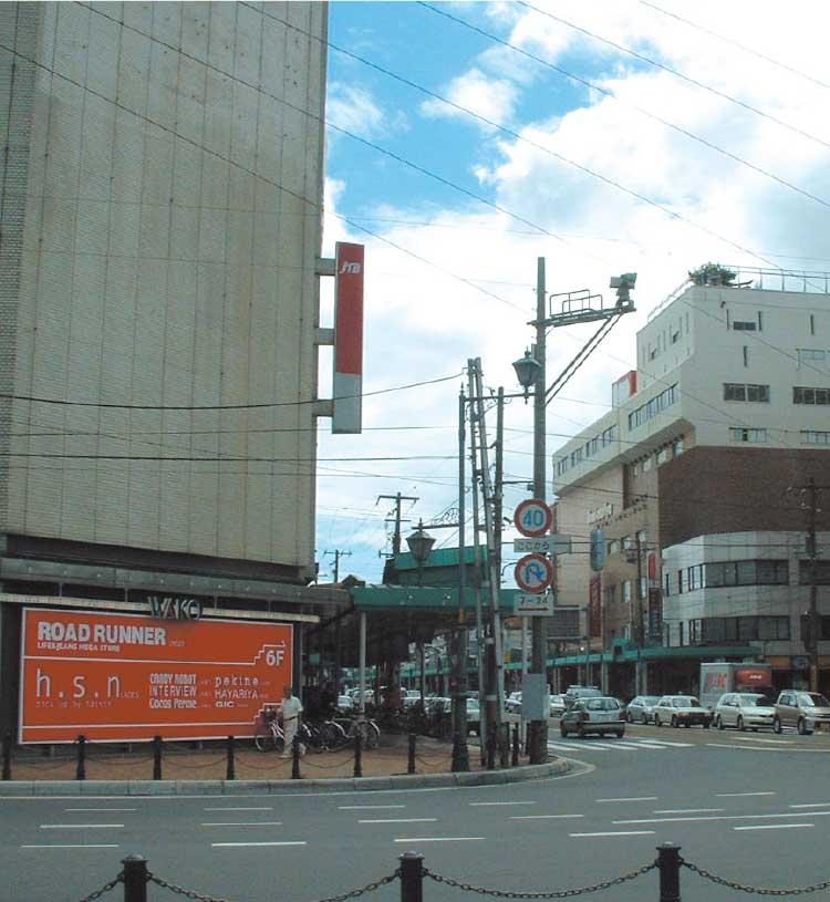函館駅前の通り