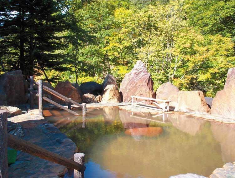 おぼこ荘の露天風呂