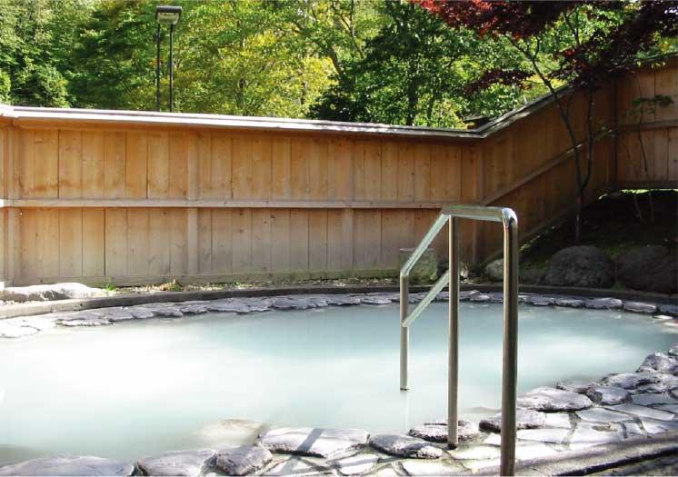 南かやべ健康村町民保養センターホテルひろめ荘の露天風呂