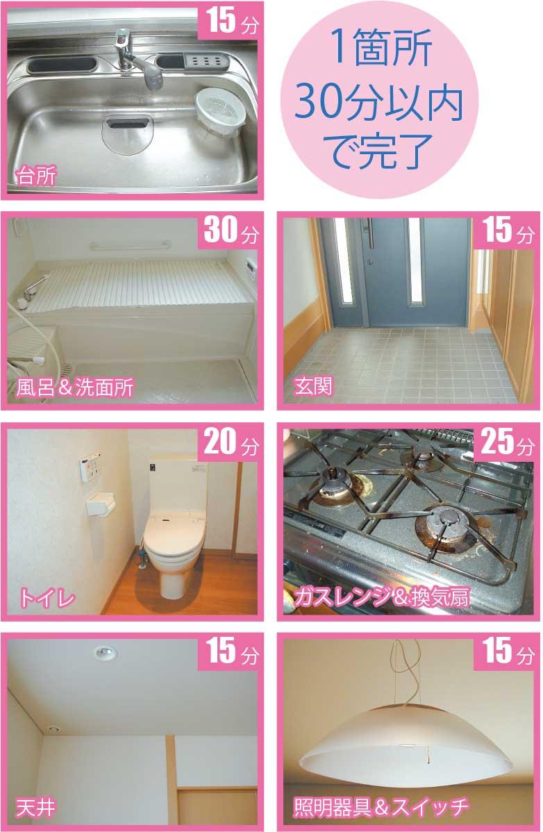 1箇所30分以内で大掃除を終わらせられる家の中のポイント