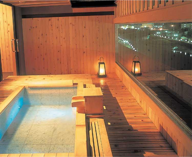 湯の川観光ホテルの貸切露天風呂