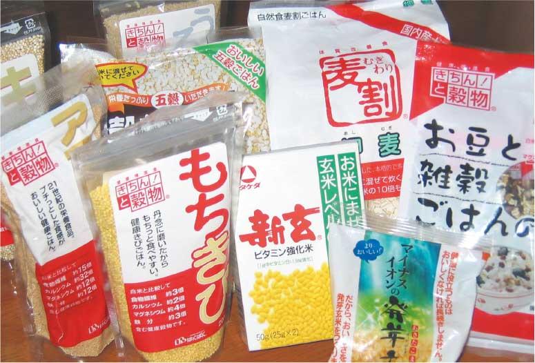 米に混ぜて炊く用の玄米や麦、キビやアワ