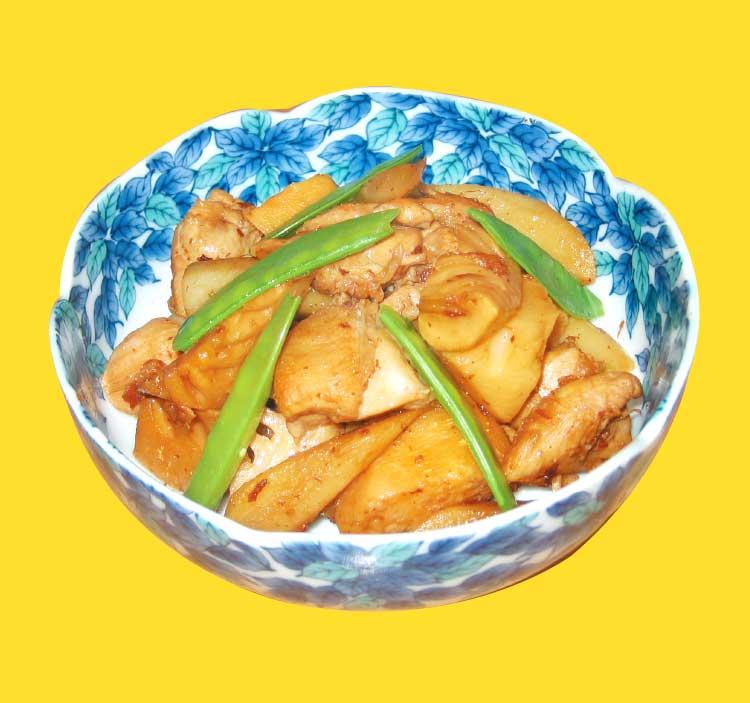 タケノコとゴボウと鶏肉の煮物