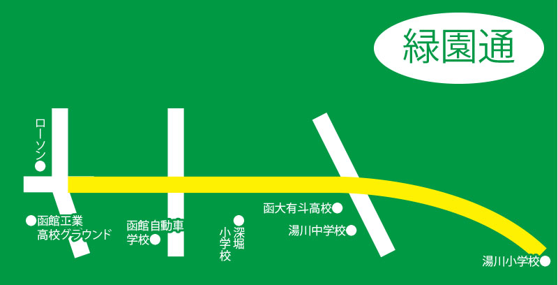 緑園通周辺地図