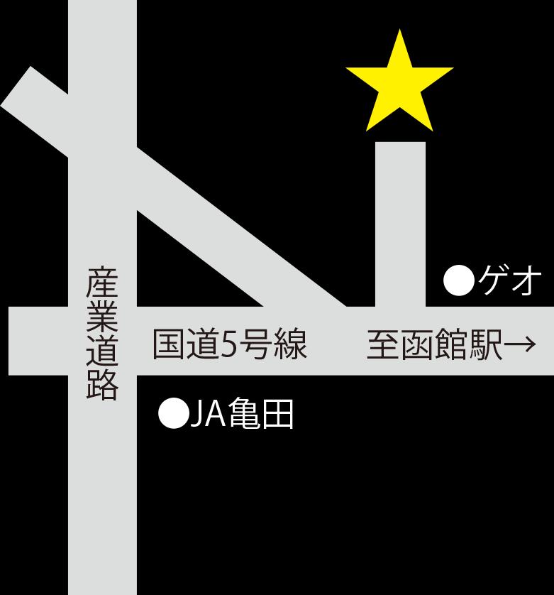 漢方勵明薬湯函館健康センター周辺地図