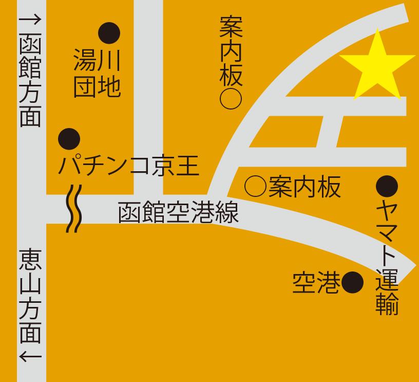 丘の上温泉富士周辺地図